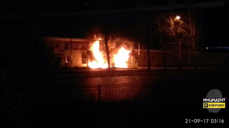 Цех кондитерской зажегся ночью вКемерове