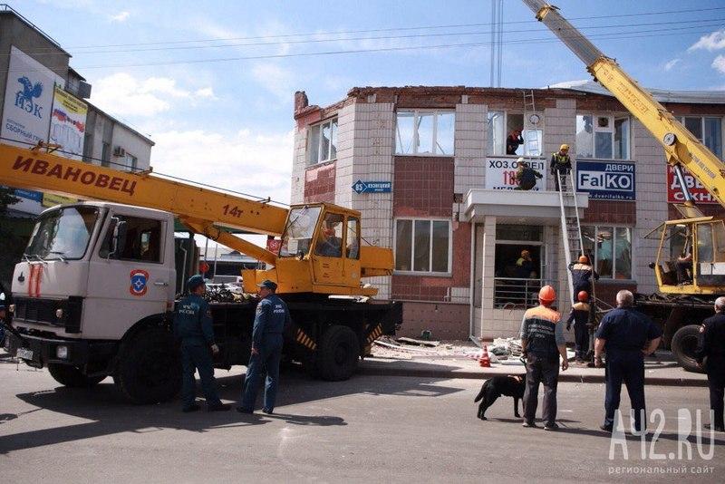 Размещено видео последствий обрушения крыши здания вКемерово