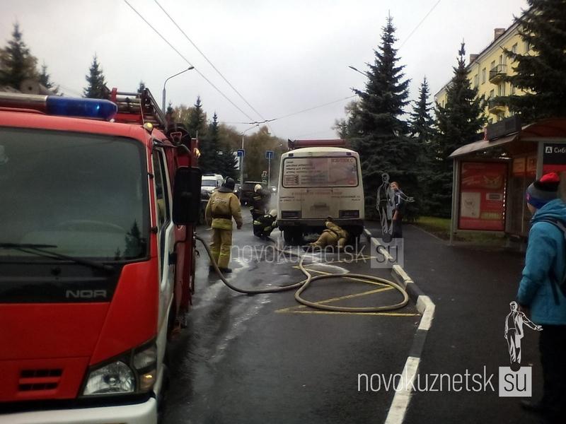 ВНовокузнецке загорелась маршрутка спассажирами