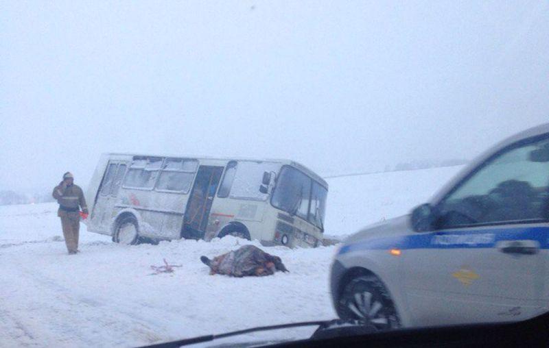 ВКузбассе вПАЗике, застрявшем натрассе, скончался шофёр