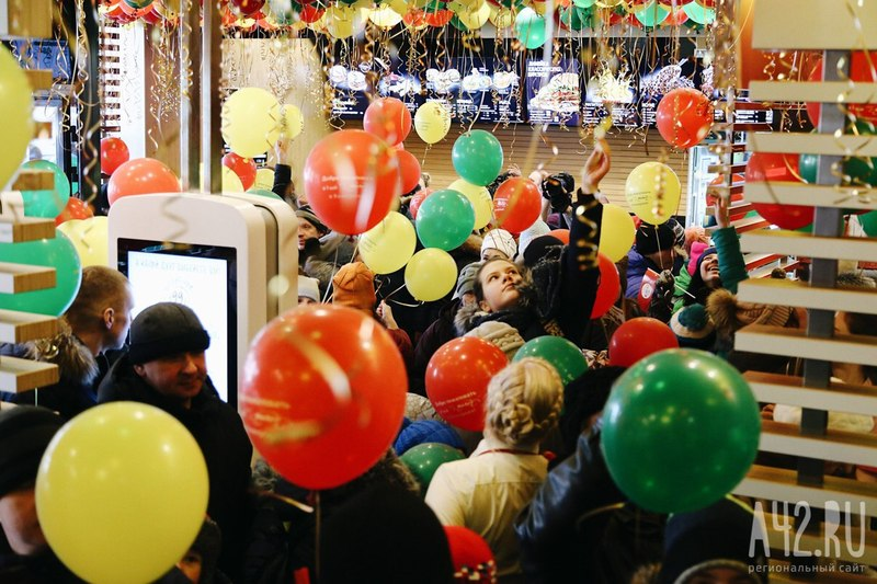 ВКемерово 10февраля торжественно открылся 2-ой McDonald's
