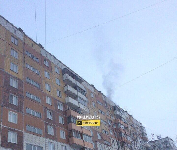 ВКемерове напожаре в высотном многоэтажном доме пострадала женщина