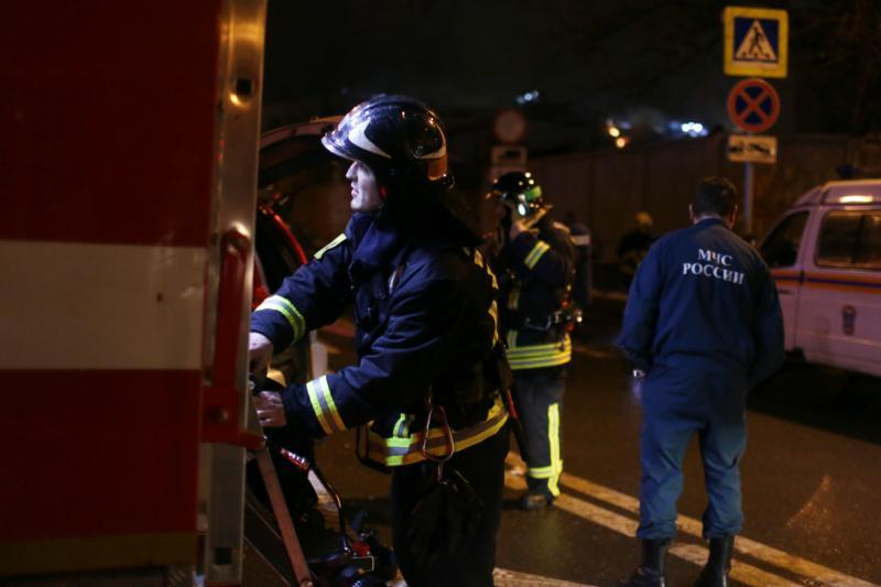 ВКемерово вжилой девятиэтажке произошел пожар