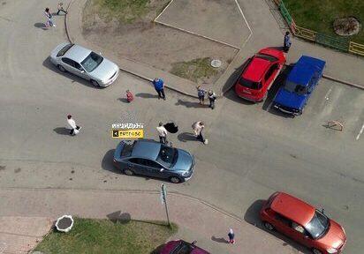 Наулице вЗаводском районе Кемерова провалился асфальт